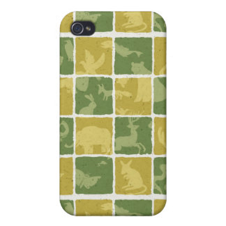 zoo themed pattern iPhone 4/4S cases