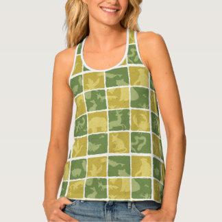 zoo themed pattern tank top