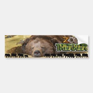 ZOO TREKKER - LOVER OF THE WILD ANIMALS BUMPER STICKERS