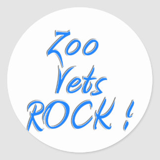 Zoo Vets Rock ! Classic Round Sticker