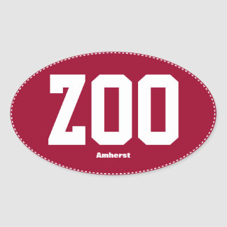 Zoo Zoomass Amherst Oval Bumper Sticker