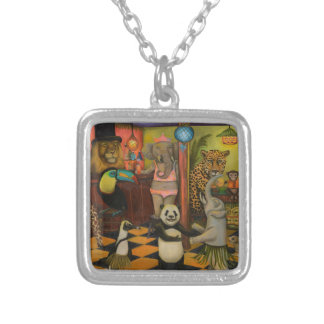 Zoobar Square Pendant Necklace