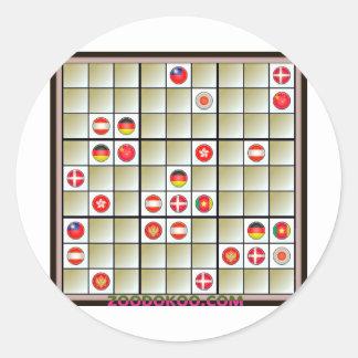 ZOODOKOO World Classic Round Sticker