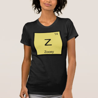Zooey Name Chemistry Element Periodic Table T-Shirt