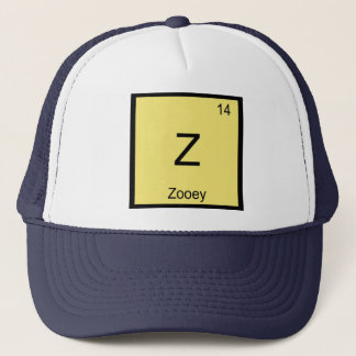 Zooey Name Chemistry Element Periodic Table Trucker Hat