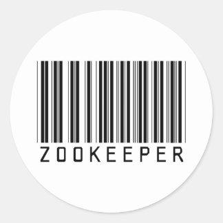 Zookeeper Bar Code Classic Round Sticker