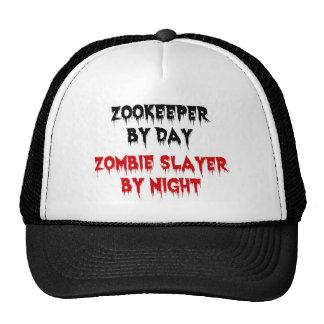 Zookeeper del asesino del zombi del día por noche gorras de camionero