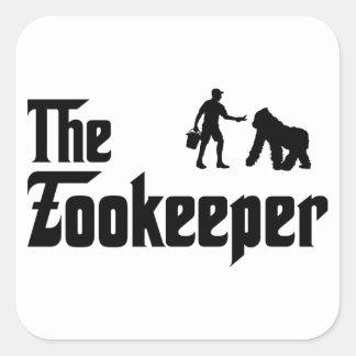 Zookeeper Square Sticker