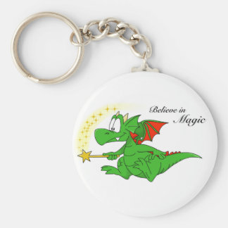 Zookie the Dragon 'Believe in Magic' Keyring Basic Round Button Keychain