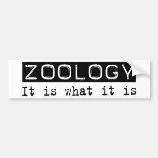 Zoología es pegatina de parachoque