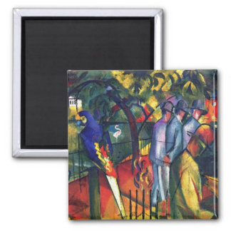zoological gardens by August Macke Fridge Magnets