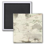 Zoological geography 2 inch square magnet