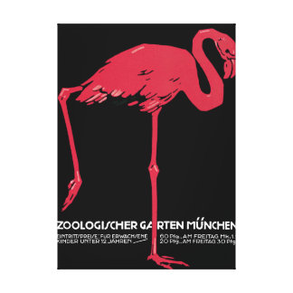 Zoological vintage poster of Munich Canvas Print