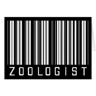 Zoologist Bar Code Card