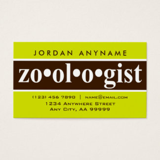 Zoologist Brown Stripe Business Card