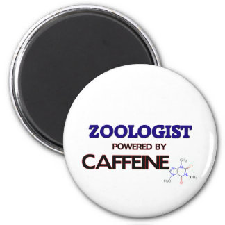 Zoologist Powered by caffeine 2 Inch Round Magnet