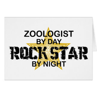 Zoologist Rock Star by Night Card