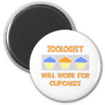 Zoologist ... Will Work For Cupcakes Refrigerator Magnet