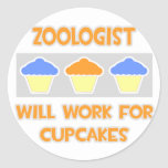 Zoologist ... Will Work For Cupcakes Sticker
