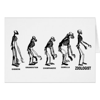 Zoologist Zoology Naturalist Science Evolution Card