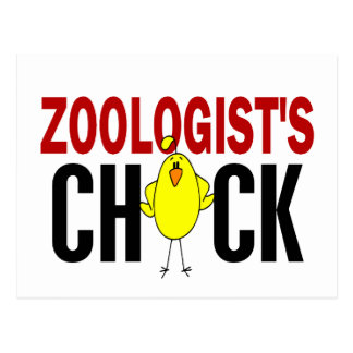 Zoologist's Chick Postcard