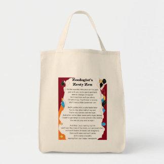 Zoologist's Zesty Zen grocery bag
