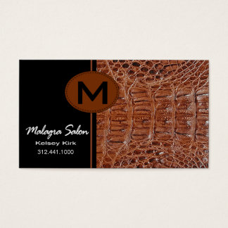 Zoology Alligator Business Card template