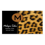 Zoology Cheetah Business Card template