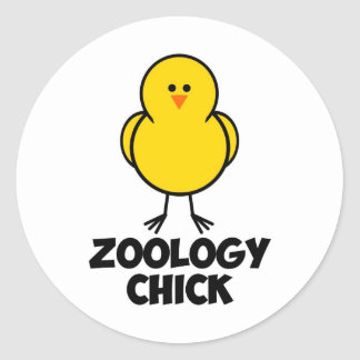 Zoology Chick Classic Round Sticker