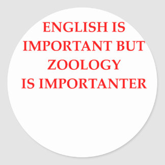 zoology classic round sticker