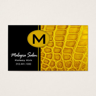 Zoology Crocodile Business Card template