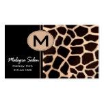 Zoology Giraffe Business Card template