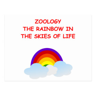 zoology postcard
