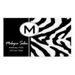 Zoology Zebra Business Card template