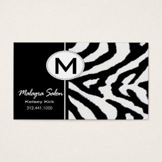 Zoology Zebra Business Card template