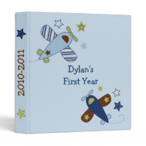 Zoom Along Airplane Baby Photo Album Scrapbook Binder