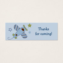 Zoom Along Airplane Baby Shower Favor Gift Tags