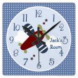 Zoom Along Airplane Nursery/Children's Clock