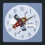 "Zoom Along Airplane Nursery/Children&#39;s Clock<br><div class=""desc"">Complete your child&#39;s room with this adorable Zoom Along Airplane Nursery Clock.</div>"