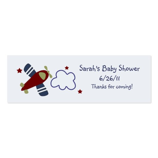 Zoom Along Airplanes Favor/Tags Business Card