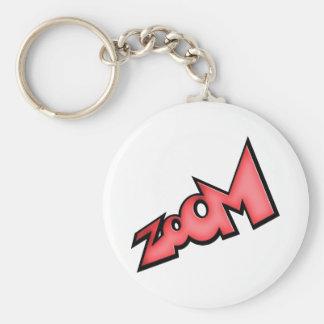 Zoom Basic Round Button Keychain