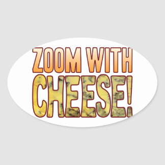 Zoom Blue Cheese Oval Sticker
