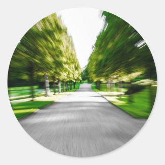 Zoom burst! round sticker