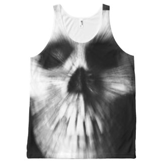 Zoom Effect Skull All-Over Print Tank Top