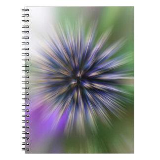 Zoom Flower Purple and Green Digital Art Notebook