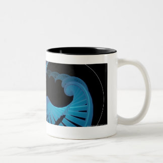 Zoom in of a DNA strand in a chromosome Two-Tone Coffee Mug