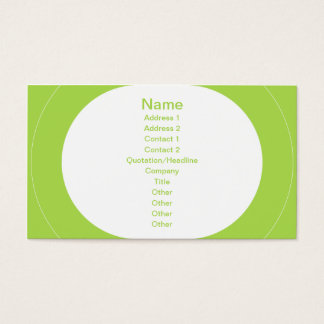 Zoom - Lime Business Card