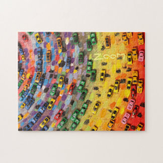 ZOOM! Puzzle - Cars, Fast Cars, Bright Colors