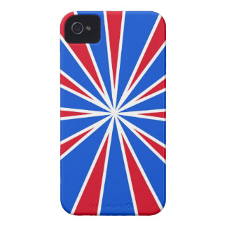 ZOOM! Red White And Blue iPhone 4 Case