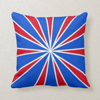 ZOOM! Red White And Blue Throw Pillow